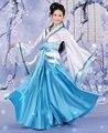Синий Китайский Хан Одежда Принцесса Феерия Косплей Платье Костюм Халат Бесплатная доставка