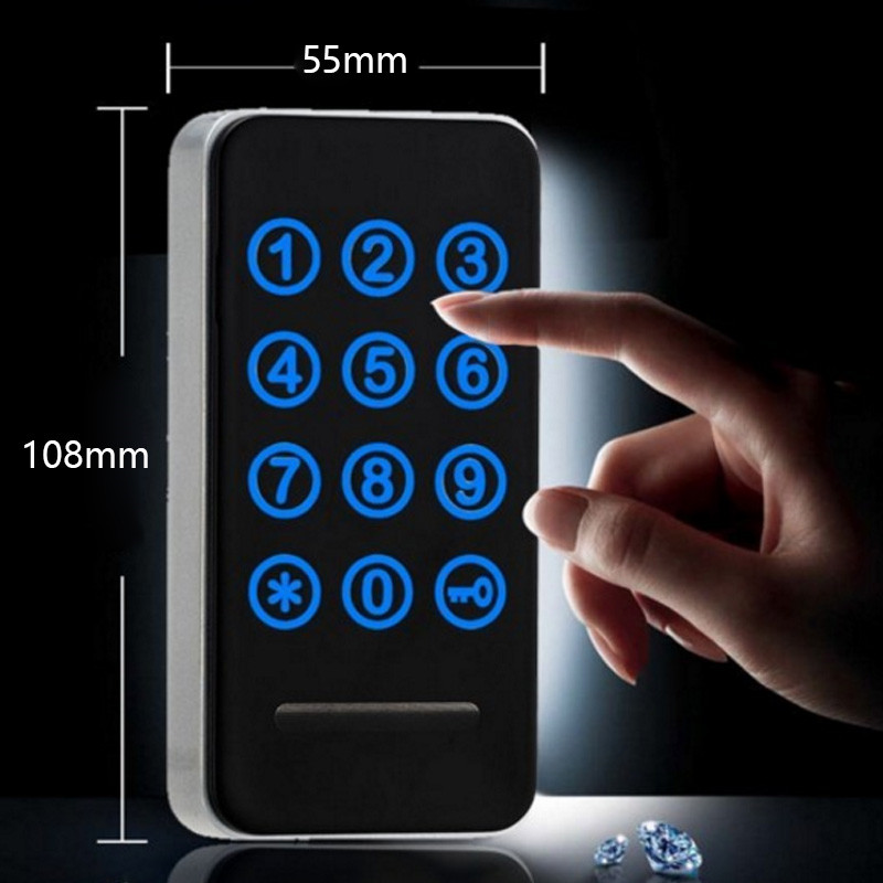 10 Sets Intelligent Electronic Cabinet Locker Touch Keypad Password EM Card Key for Home Swimming Sauna Pool Gym EM118 2 sets smart lock electronic cabinet locker digital em card key for home for swimming sauna pool gym em128
