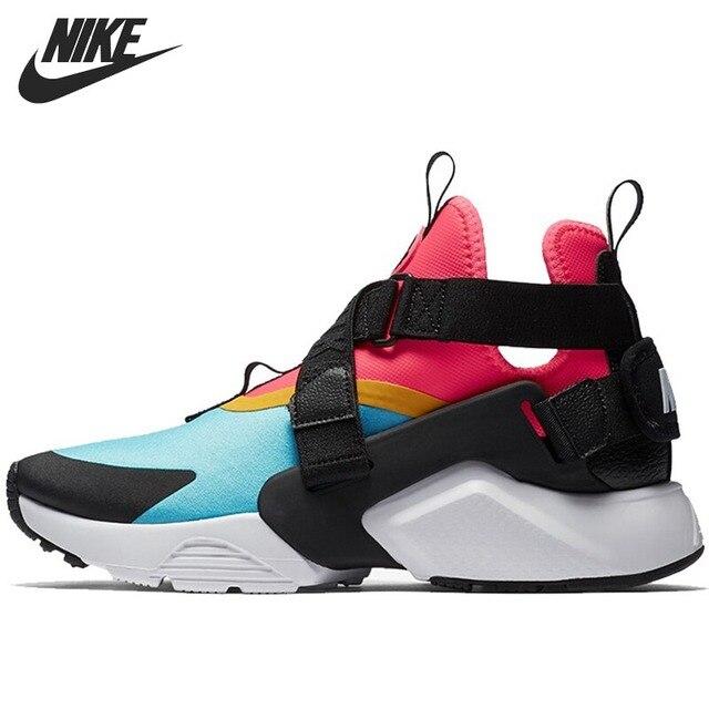 f1e61a6e01ae Original Nouvelle Arrivée 2018 NIKE AIR HUARACHE VILLE Chaussures de Course  des Femmes Sneakers