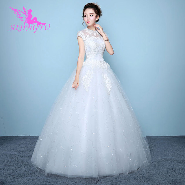 fd9c16e346363 US $38.0 |AIJINGYU 2018 free shipping new hot selling cheap ball gown lace  up back formal bride dresses wedding dress for sale WK767-in Wedding ...