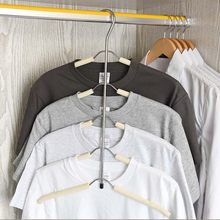 Urijk 1PC Multi Layers Cloth Hanger Hook Scarf Hangers Clothes Holder Rack Coat Clothing Organizer Space Saver(China)