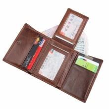 Артмі Чоловічий триколірний гаманець RFID шкіряний картковий тримач. Компактний гаманець Додаткова ємність