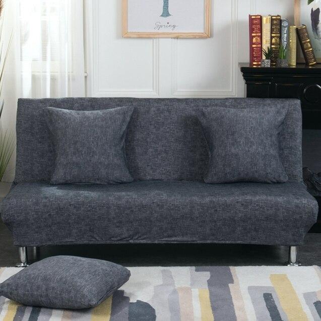 Housse de canapé-lit universelle sans bras housse de siège pliante housse de protection extensible moderne bon marché housse de protection élastique Futon Spandex