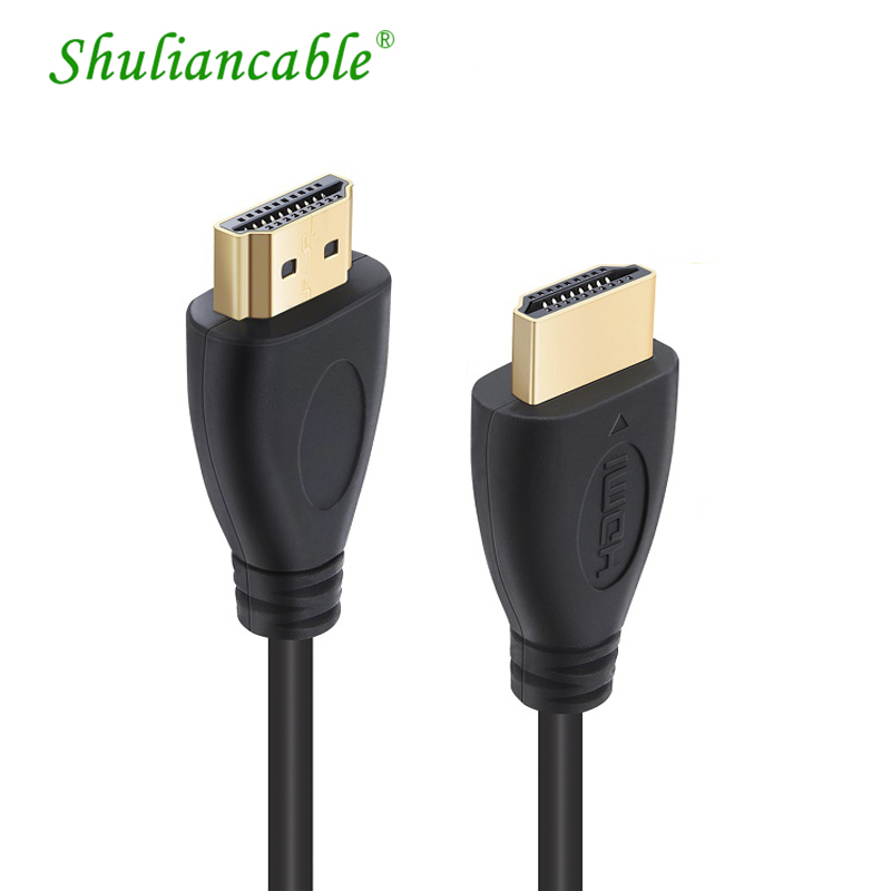 ShuliancableHigh Speed HDMI Cable Male to Male Gold HDMI 1.4V Version 1080P 3D for PS3 projector HD LCD Apple TV computer cable майка классическая printio dixie rebel kappa page 1