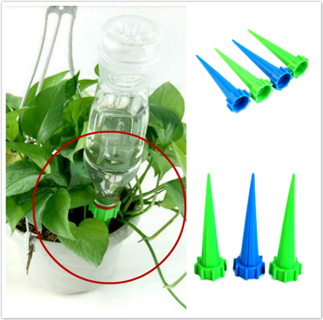 New 4pcs Lot Garden Bottle Irrigation System Cone Watering Spike Plant Flower Waterers