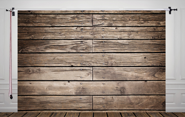HUAYI Distressed Wood Backdrop For Photography Rustic Grey Floor Drop Photo D9821
