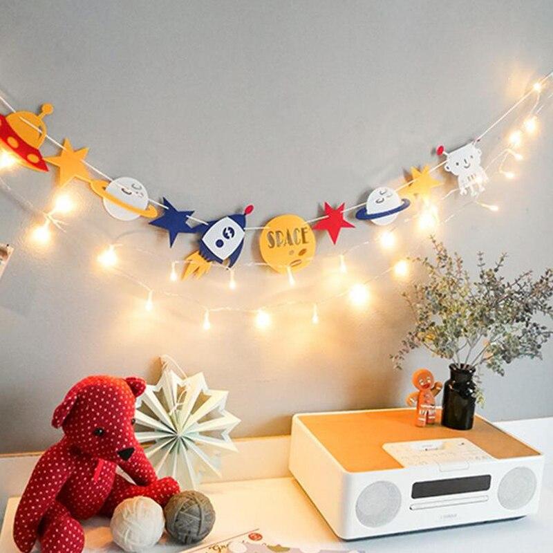 Баннер для вечеринки по случаю Дня рождения Горячая Распродажа, космический корабль, звезда, ракета, роза, вечеринка, гирлянда, венгинг, флаг...