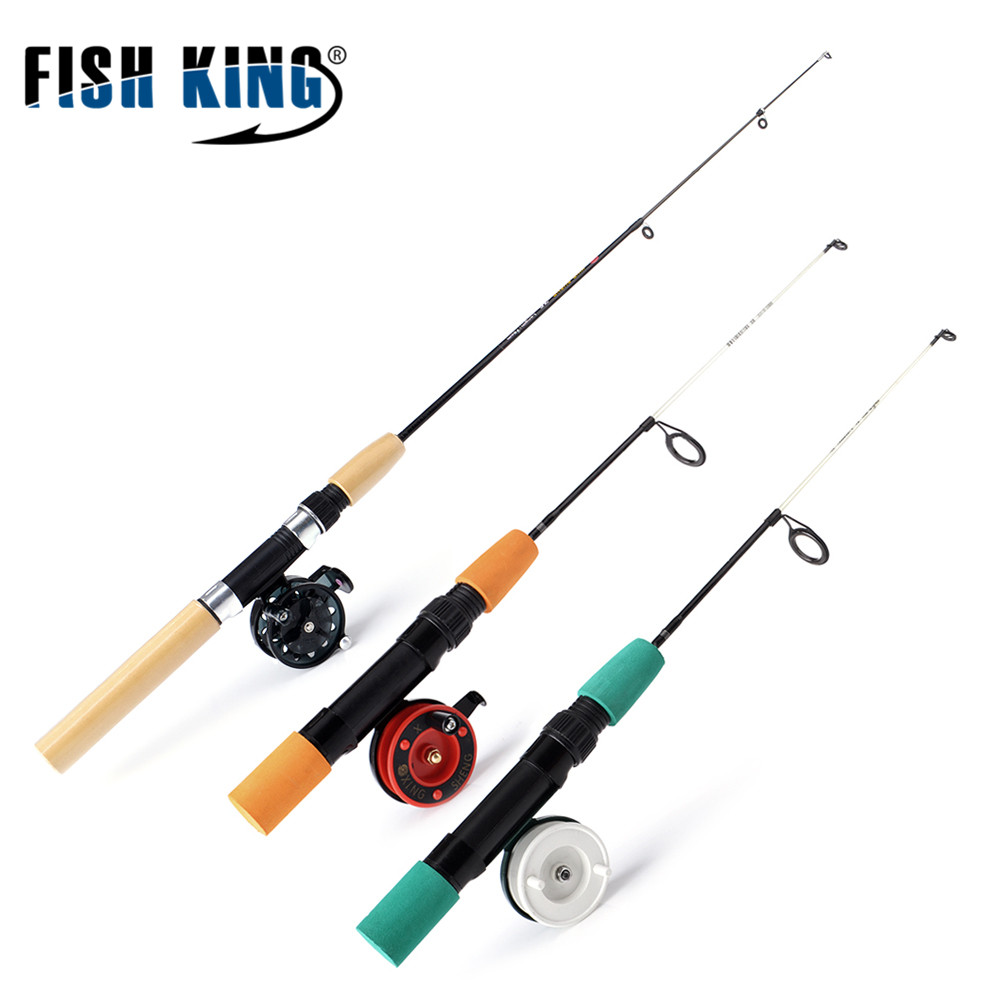Fish king winter ice fly fishing rod 50 75 cm 2 sections for Fly fishing reel reviews