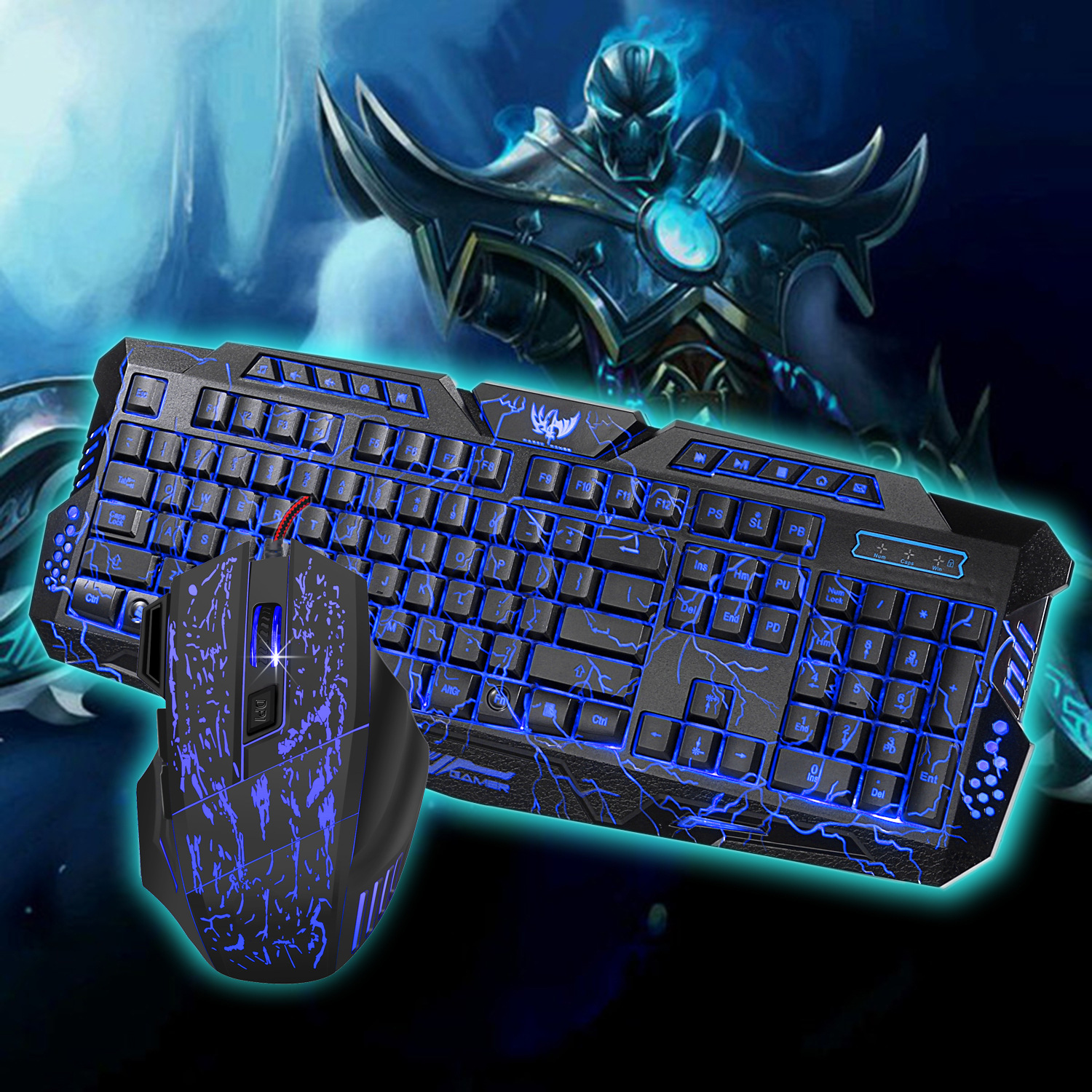 New 104 Key Three-color Led Backlight 19-key Conflict-free English Version of The Robot  ...
