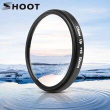 Снимать Камера 52 мм 10x увеличение макро крупным планом фильтр объектива с переходным кольцом для GoPro Hero 7 6 5 черный действие аксессуар для камеры