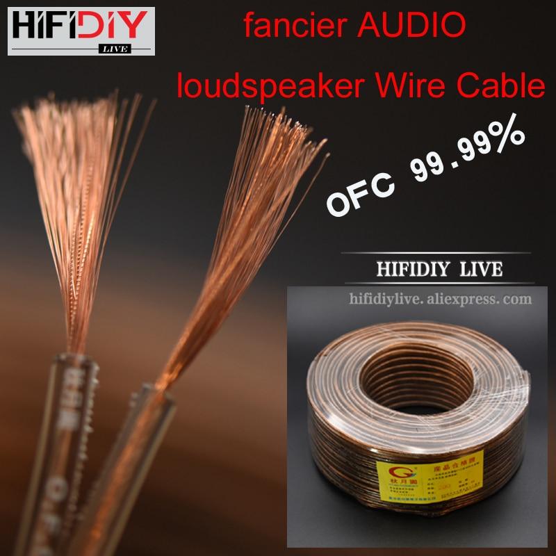 HIFIDIY LIVE Speakers Loudspeaker Wire Cable Audio Line Cable DIY HIFI Fancier OFC Pure Oxygen-Free Copper 200 300 400 600Core