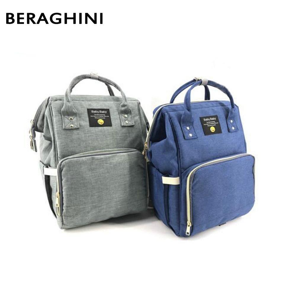 BERAGHINI Large Capacity Bag Multifunctional Diaper Backpack Waterproof Mummy Bag Fashionable Travel Backpacks for Baby Care