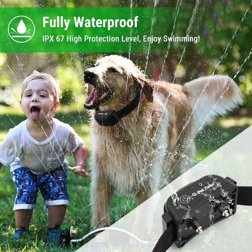 Petrainer 900B 3 أحدث تصميم للماء و قابلة للشحن 1000M الكلب التدريب عن بعد صدمة الإلكترونية طوق ل 3 الكلاب-في أطواق التدريب من المنزل والحديقة على  مجموعة 3