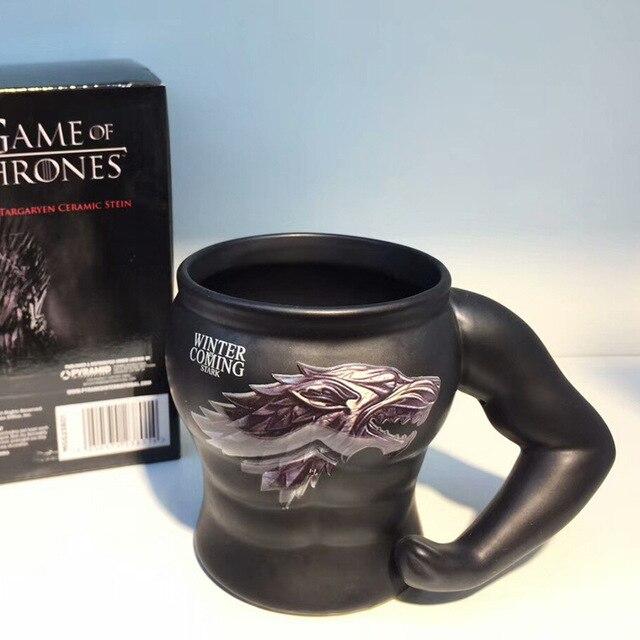 Game Of Thrones Ceramic Mug Heat-resistant Symbol Power Muscle Mug For Personality Muscular Men Coffee Milk Mug