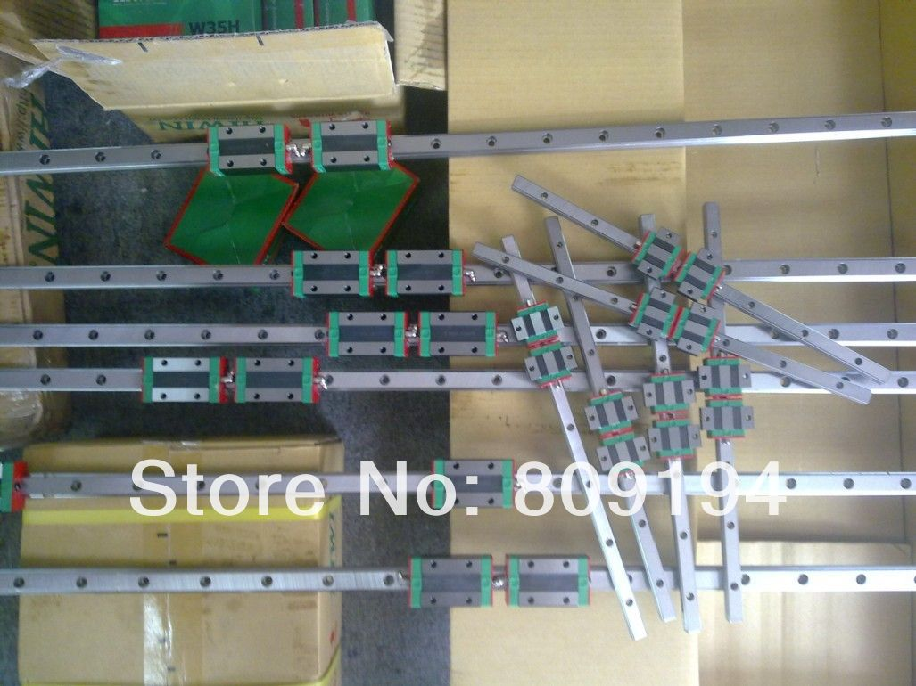 1750mm HIWIN EGR15 linear guide rail from taiwan free shipping to argentina 2 pcs hgr25 3000mm and hgw25c 4pcs hiwin from taiwan linear guide rail