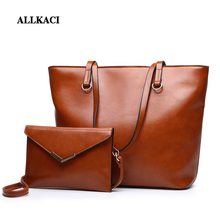 Women Handbag Leather Shoulder Bags 2 sets Famous Brand Designer Messenger Ladies Tote Sac A Main Femme 48