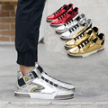 New Arrival Fashion 2016 hollow-out loafers round head breathable lazy leisure shoes slip-on Gold casual shoes Men