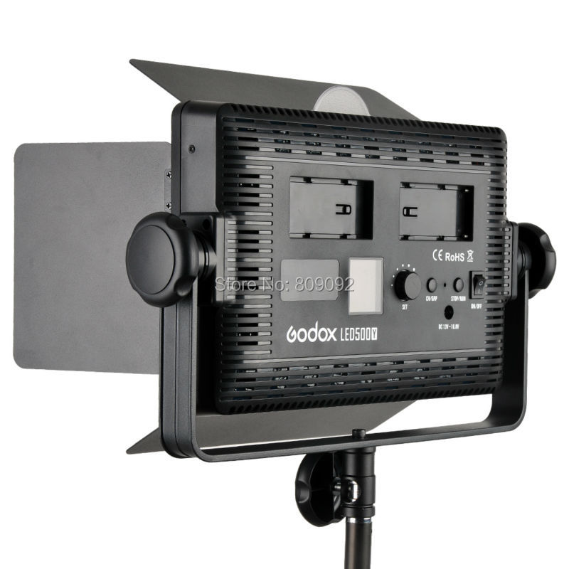 GODOX LED500 LED Video Light Lamp Lights Photographic Lighting 3300K-5600K for DSLR Camera Camcorder Photo Studio