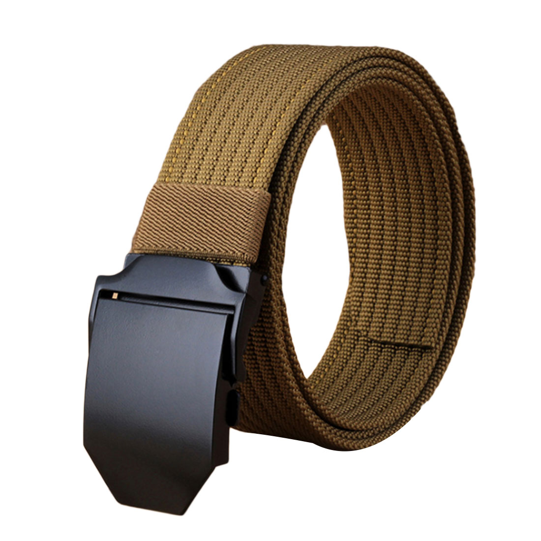Best Unisex tactical 3.8 cm wide casual canvas belt for Durable Military Training Belts Outdoor Alloy Automatic buckle men Belt