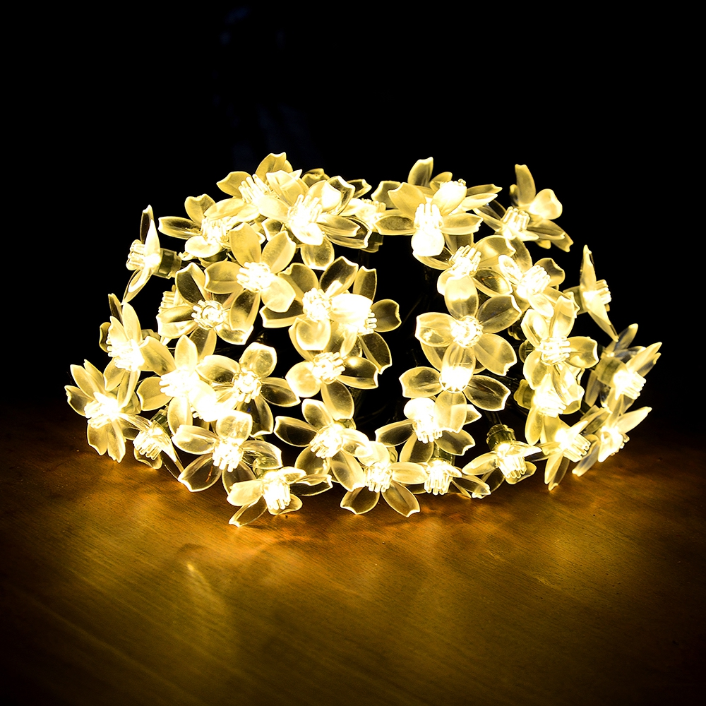 7M Solar String Christmas Lights Outdoor 23 ft 50 LED 3Mode Waterproof Flower Garden Blossom Lighting Party Home Decoration 2