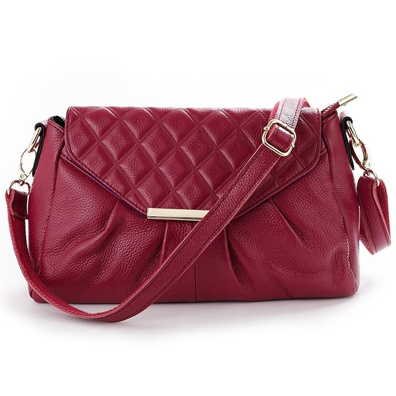 High Quality 100% Women's Genuine Leather Handbags Luxury Handbags Women Bags Women Messenger Bags Shoulder Bag Ladies Bolsas