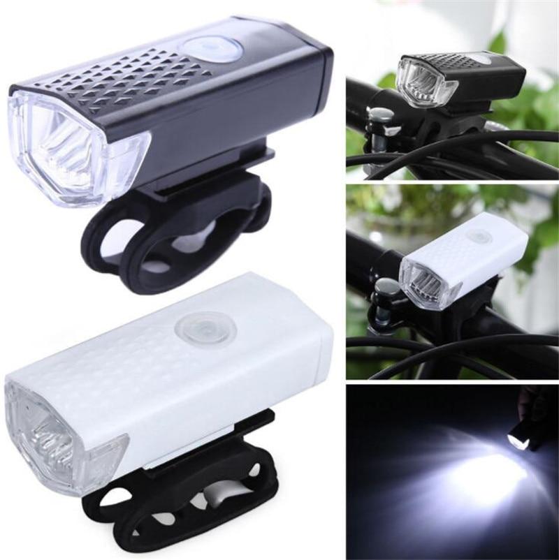 Bike Light USB Rechargeable 3 Mode Bicycle Front Light Lamp Bike Headlight Cycling LED Flashlight Lantern Bike Accessories