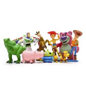 Image 2 - Disney История игрушек Полная коллекция Шериф Вуди Базз Лайтер Джесси Хэмм Рекс искусственная голова картофеля кукла экшн фигурки