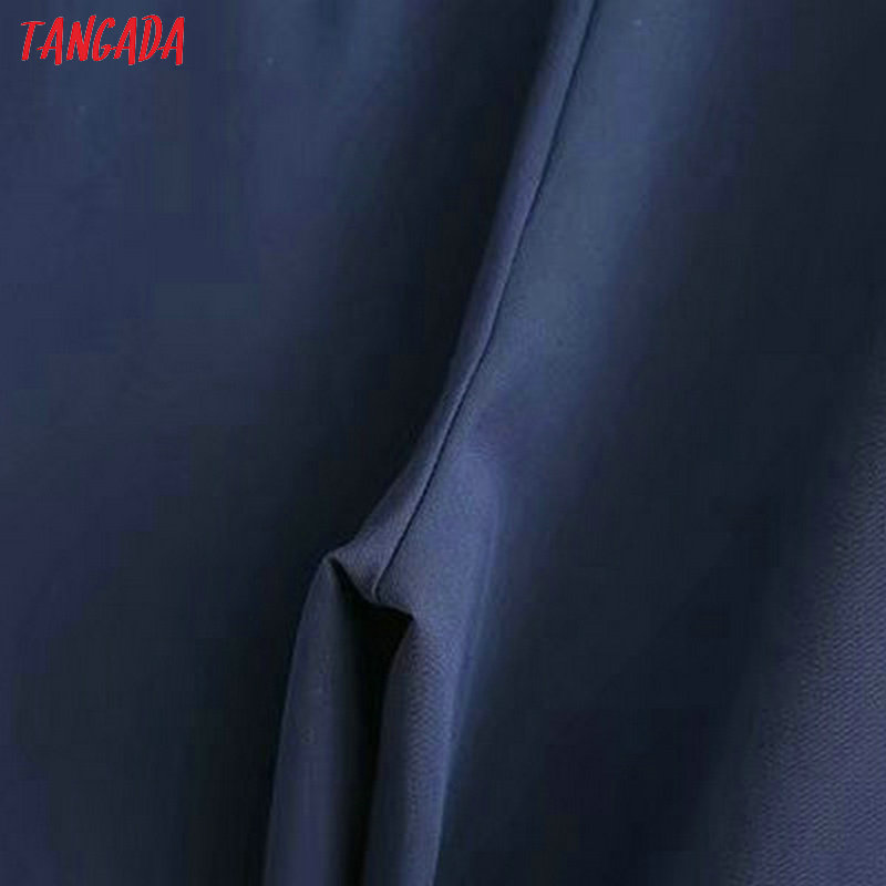 Tangada women elegant navy pants 19 ladies casual harem pants cotton cool korean fashion trousers mujer XD449 15