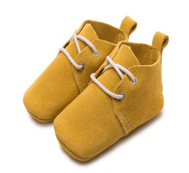 Echtes Leder Klassische Neugeborene Jungen Mädchen Prewalkers Mokassins Kinder Sport Turnschuhe Krippe Bebe Weiche Sohlen Schuhe Stiefel
