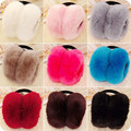 2016 Winter Women Warm Fur Earmuffs Girl's Earlap Ultralarge Imitation Autumn Rabbit Hair Ladies Plush Ear Muff candy color R141