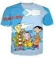 Moda Ed Edd n Eddy 90's Clthing Dos Desenhos Animados 3D Casuais T-shirt Das Mulheres Dos Homens Estilo Caráter Engraçado t-shirt Tops de Verão t camisa