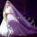 Elegant 4M Cathedral Wedding Veils 2017 Formal Women Church Bridal Veils Wedding Accessories velos de novia voile mariage V100