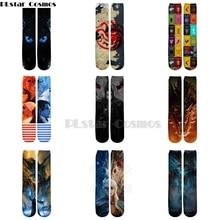 Plstar Cosmos Game of Thrones 8 Fire & Blood 3d socks Men Women Funny 3D High Socks Targaryen drogn high quality dropshopping