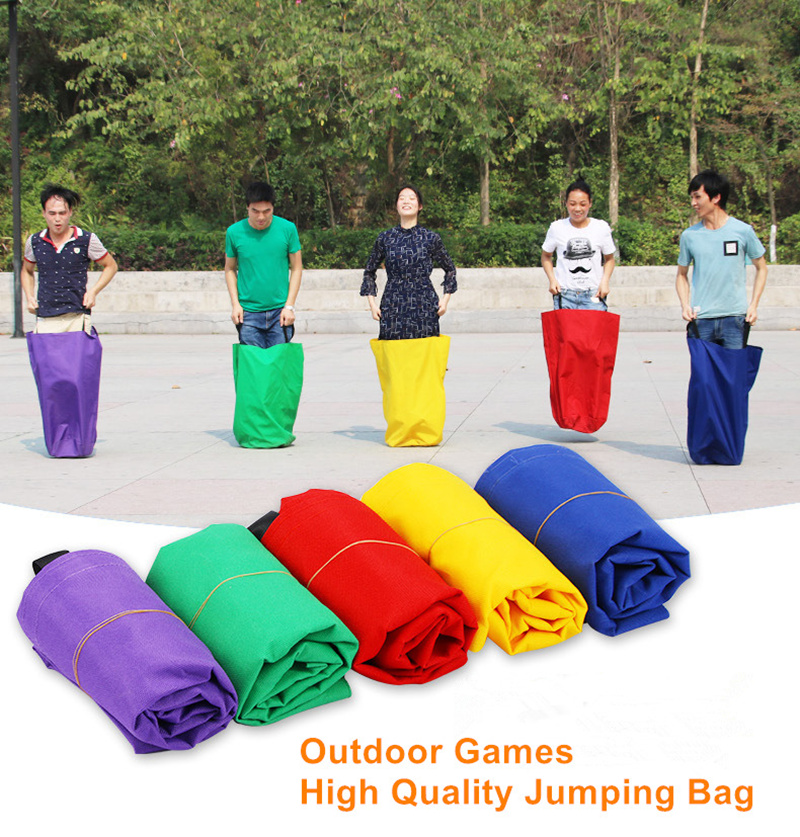 Outdoor Games Sport Toys Thicken Nylon Jumping Bag Jump Bags Child Kids and Adults Party Game Company Team Family Game Portable