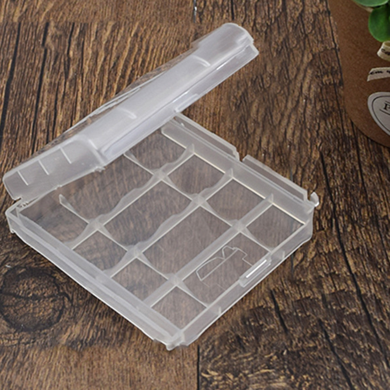2Pcs/lot Mini Portable Plastic Battery Case Holder Storage Box For AAA/AA Battery Rechargeable Storage Box Digital Hot