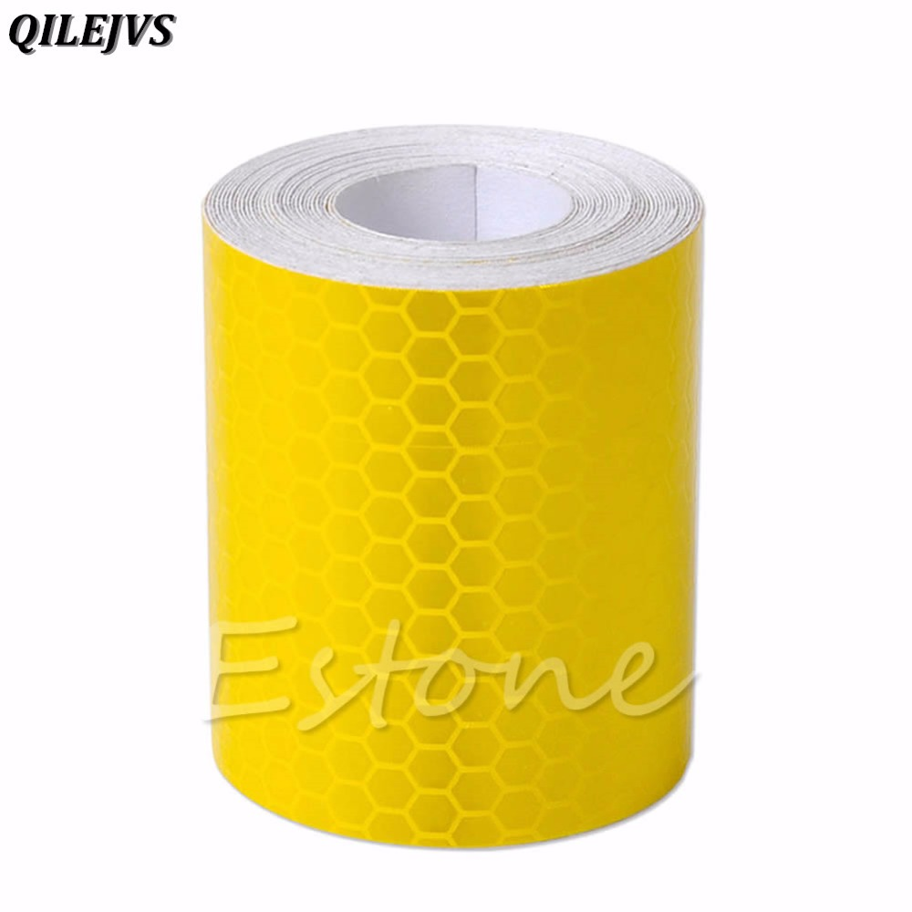 QILEJVS New 3M Fluorescence Reflective Car Truck Motorcycle Sticker Safety Warning Signs Conspicuity Tape Film Sticker Roll