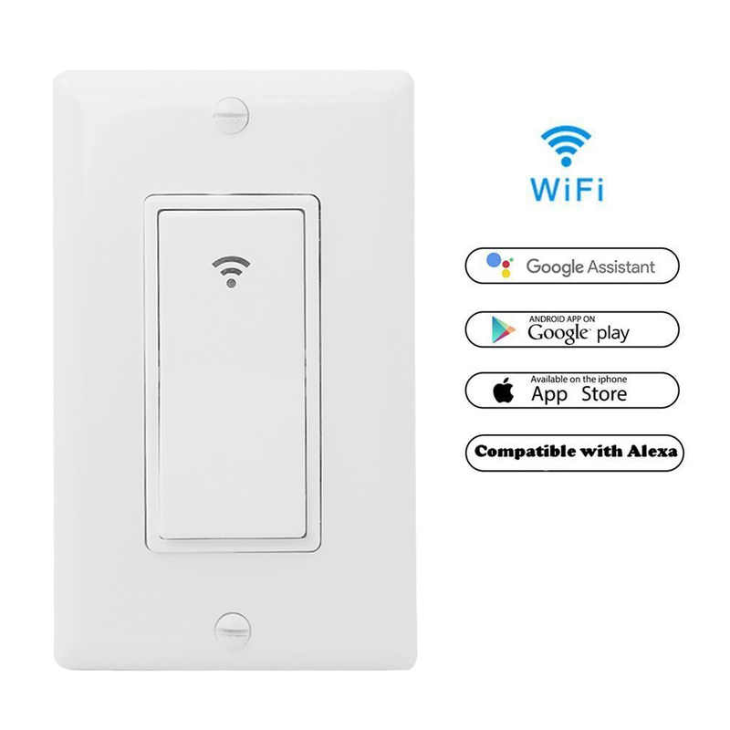 WiFi Smart Wall Light Switch Timing Function Suit for 1/2/3 Gang Switch Box Works with Alexa Google Home wifi switch button