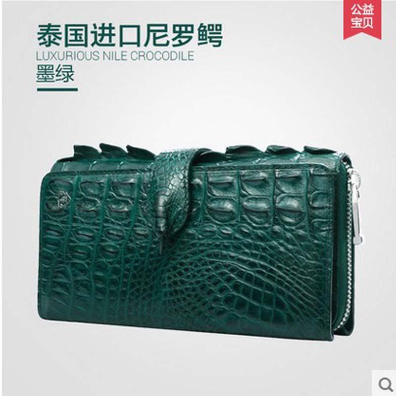 Gete new Thai crocodile leather women clutches really female fashion evening bag long wallet leather hand bag yuanyu new alligator long female bag real crocodile leather high end imported large women clutches