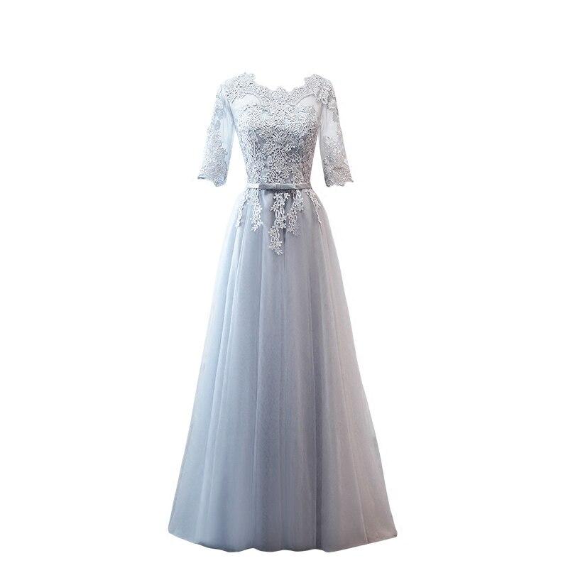 67e07c6e2b PTH-MNZ958#Bride Wedding Toast grey Bridesmaid Dresses long medium short  lace up wedding prom party dress cheap wholesale Custom