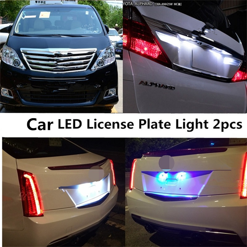 Tcart 2PCS Auto Led Bulbs Car Accessories High Power White LED Lamp License Plate Lights For Nissan Juke 2011-2015 Free Shipping