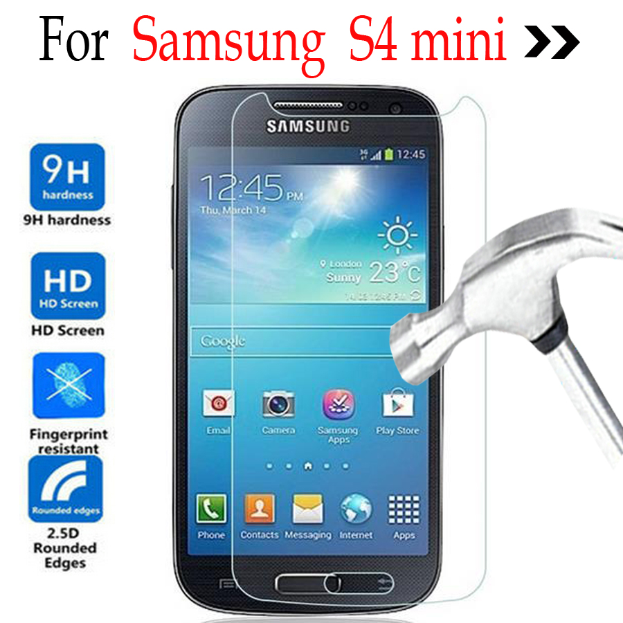 for samsung galaxy s4 mini tempered glass screen protector cover on samsung galaxy s4 mini i9190. Black Bedroom Furniture Sets. Home Design Ideas