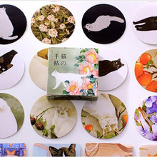 40 pcs/lot cute cat mini paper sticker decoration DIY ablum diary scrapbooking label kawaii stationery