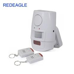 Spadek darmowa wysyłka niezależne bezpieczeństwa w domu ruchu PIR czujnik alarmowy z 2 zdalnego sterowania