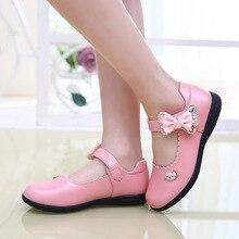 Lumière de la peau petites filles en cuir véritable chaussures princesse chaussures Minnie enfants Sapatenis rouge rose noir Bowtie chaussures TX69