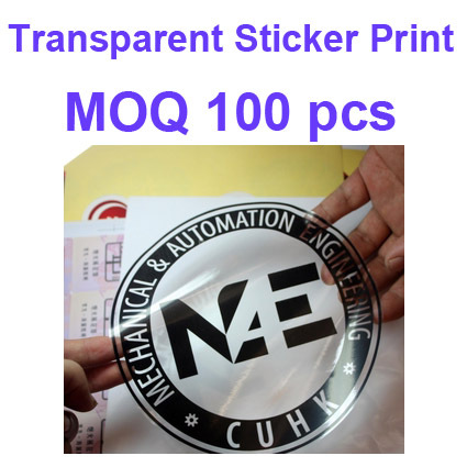 Ps24 customized printing services colour custom adhesive pvc transparent sticker waterproof foc design logo oem qcpass
