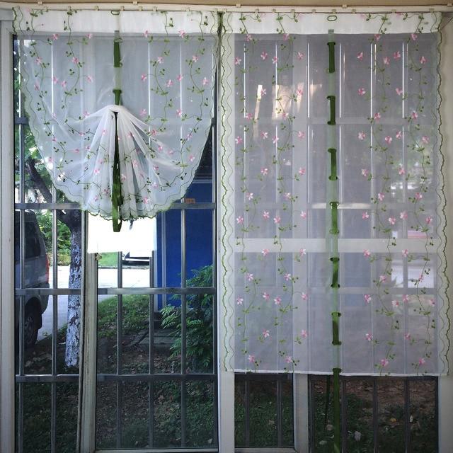 Comprar cortinas de color rosa bordado de - Comprar cortinas para cocina ...