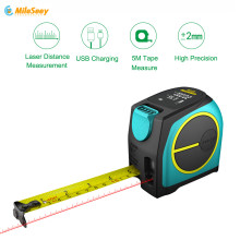 Mileseey DT10 Laser Tape Measure 2-in-1 Digital Rangefinder with LCD Display Magnetic Hook
