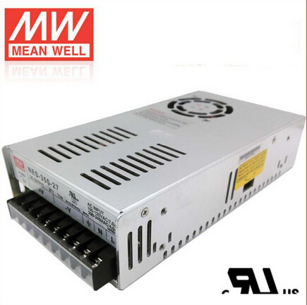 Mean Well Switching Power Supply 350W 27V 13A Single Output NES-350-27 for Embroidery Engraver Printer Plasma CNC Router Kits original meanwell nes 350 24 ac to dc single output 350w 14 6a 24v mean well power supply nes 350