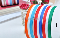 1(25mm) 100yards Grosgrain Ribbon Printed Swiss Scotland Stripe ~high quality Free Shipping