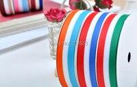 1(25mm) 100yards Grosgrain Ribbon Printed Swiss Scotland Stripe ~high quality Free Shipping